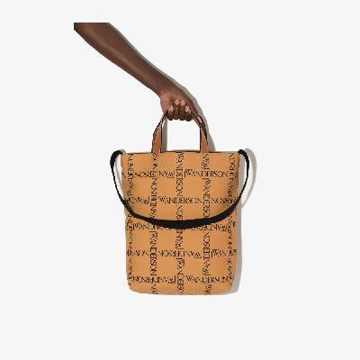 JW Anderson - Neutral Logo Shopper Tote Bag