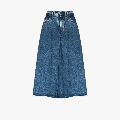 Maison Margiela - Wide Leg Denim Shorts