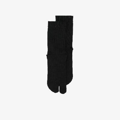 Maison Margiela - Black Tabi Cotton Socks