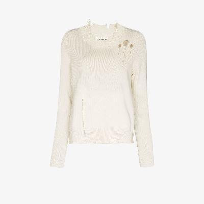 Maison Margiela - Distressed Raglan Sleeve Sweater