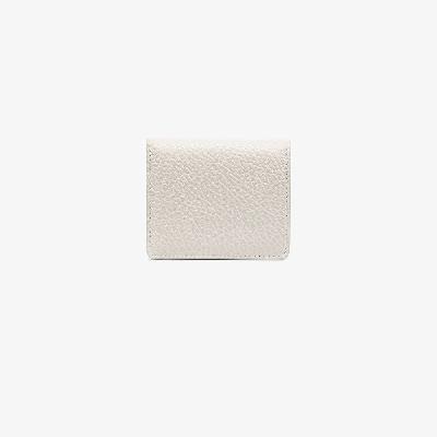 Maison Margiela - White Grained Leather Bifold Wallet
