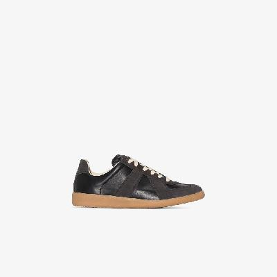 Maison Margiela - Black Replica Leather And Suede Sneakers
