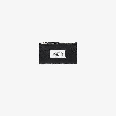 Maison Margiela - Black Logo Leather Card Holder