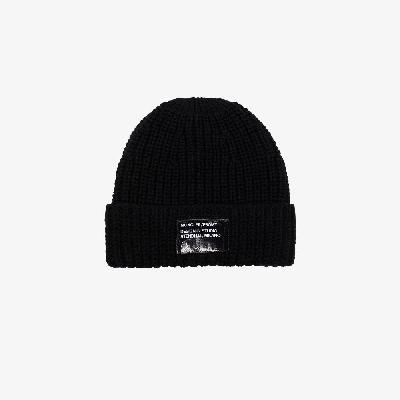 Moncler Genius - Black 7 Moncler Fragment Wool Beanie Hat