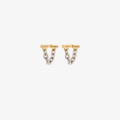 Paco Rabanne - Gold Tone Chain Earrings
