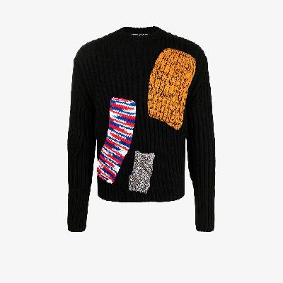 Raf Simons - X Sterling Ruby Patchwork Knitted Sweater