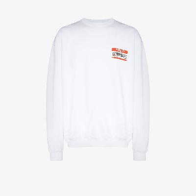 VETEMENTS - My Name Is Printed Sweatshirt