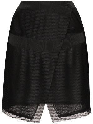 032c plissé pleated wrap mini skirt