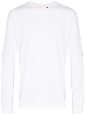 032c logo-embroidered top