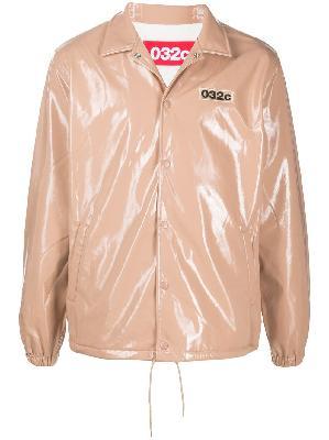 032c embroidered logo shirt jacket