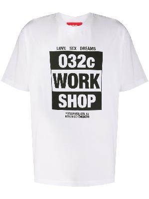 032c Work Shop logo T-shirt