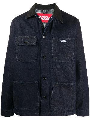 032c embroidered logo denim jacket