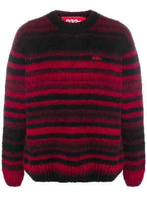 032c chunky knit striped jumper