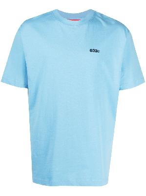 032c logo-embroidered t-shirt