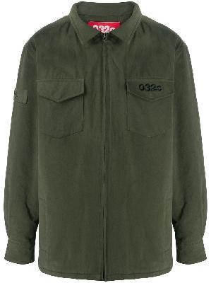 032c logo zipped shirt