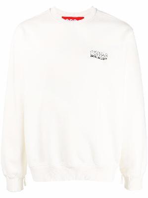 032c logo-print cotton sweatshirt