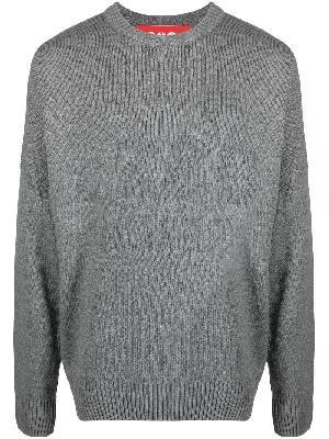 032c Selfie intarsia-knit logo jumper