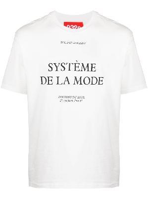 032c text-print short-sleeved T-shirt