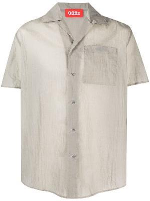 032c tie dye-print short-sleeve shirt