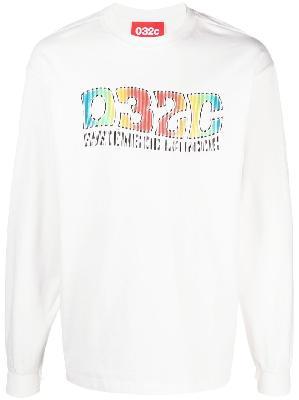 032c logo-print long-sleeve T-shirt