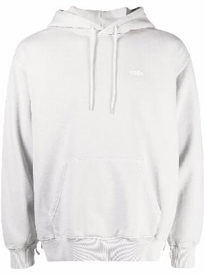 032c Vitruv-print cotton hoodie