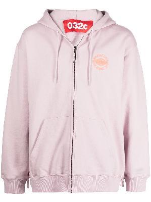 032c graphic-print zip-up hoodie