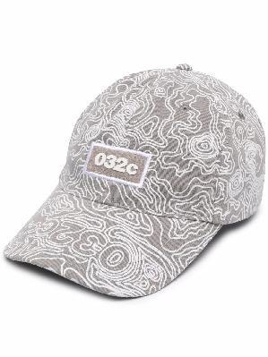 032c Topos-print cotton baseball cap