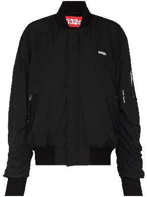 032c Maria logo-print bomber jacket