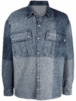 032c relaxed-fit denim organic cotton shirt