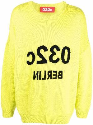 032c Berlin intarsia merino-knit jumper