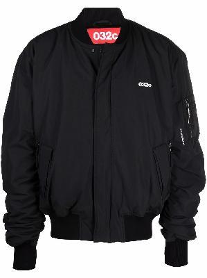 032c logo-print bomber jacket