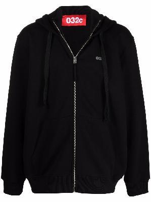 032c logo-print organic cotton hoodie