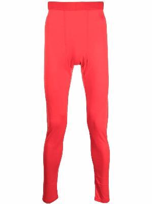 032c high-waisted silk -blend leggings