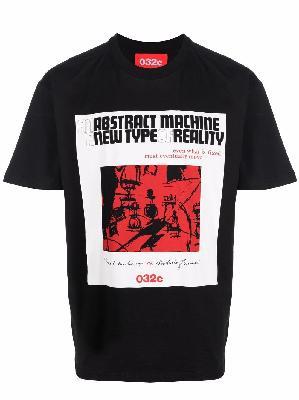 032c graphic-print short-sleeved T-shirt
