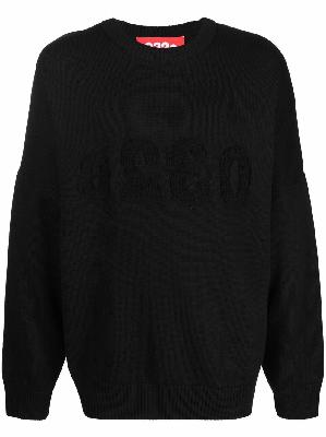 032c logo-embroidered knitted jumper