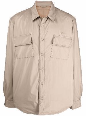 032c logo-print quilted shirt jacket