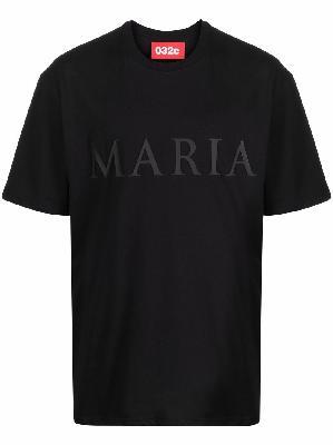 032c Maria slogan-print organic cotton T-shirt