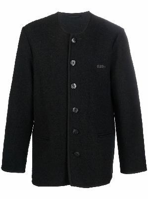032c crew-neck wool cardigan