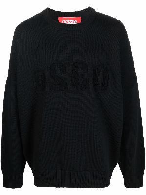 032c logo-print merino jumper