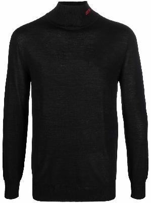 032c fine-knit roll neck sweatshirt