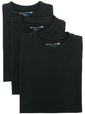 1017 ALYX 9SM Pack of Three printed logo T-shirts