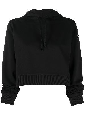 1017 ALYX 9SM logo-lettering cropped hoodie
