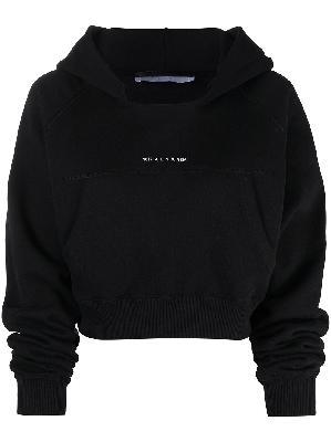 1017 ALYX 9SM logo-print cropped hoodie