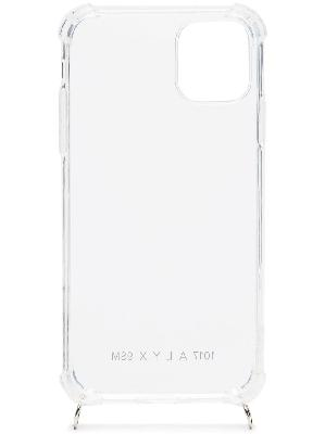 1017 ALYX 9SM clear perspex iPhone 11 case