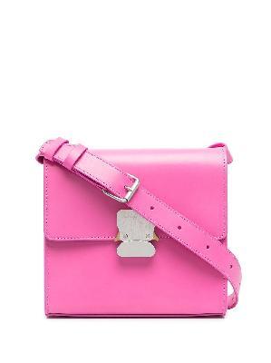1017 ALYX 9SM branded-buckle leather shoulder bag