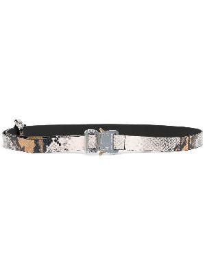 1017 ALYX 9SM snakeskin-effect industrial-buckle belt