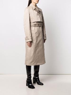 1017 ALYX 9SM long cotton trench coat