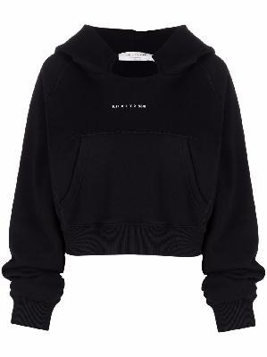 1017 ALYX 9SM cropped logo print hoodie