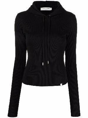 1017 ALYX 9SM ribbed-knit stretch-cotton hoodie