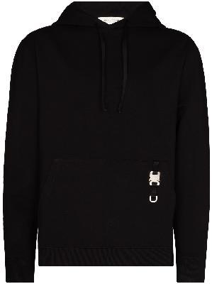 1017 ALYX 9SM buckle-embellished drawstring hoodie
